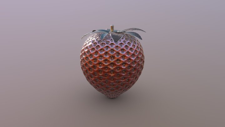 Semi-organic Strawberry 3D Model