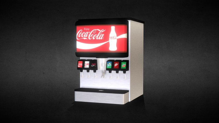 Soda Fountain 3D Model