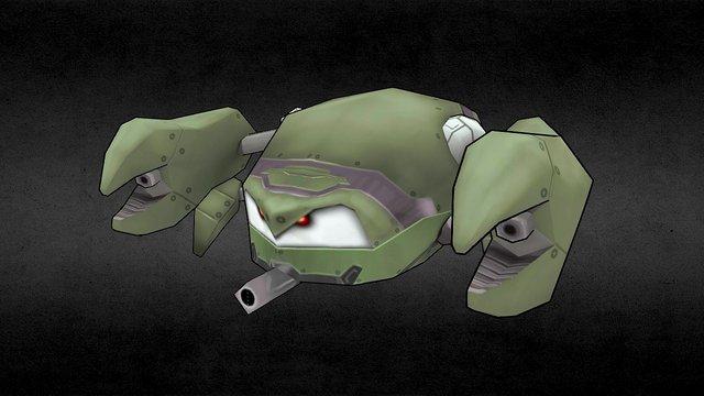 Assault, cute, Crab 3D Model