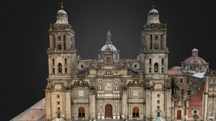 Mexico City Metropolitan Cathedral 3D Model