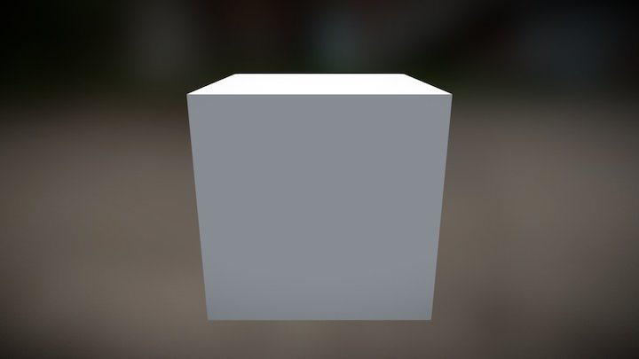 Test rotate cube animation 3D Model
