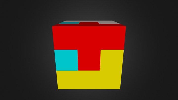 Puzzle Cube Assembled 3D Model