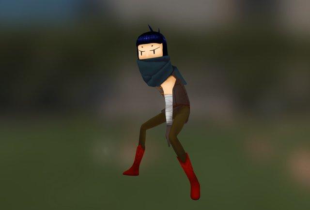 Thief Girl 3D Model