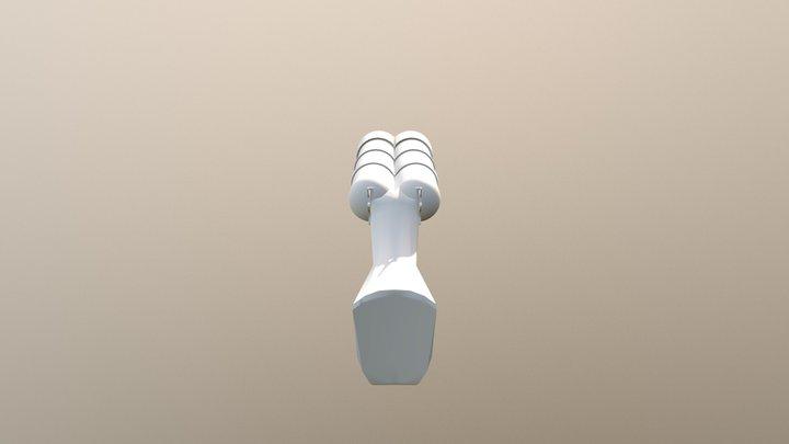 Double-Barrel Dwarven low-poly Shotgun 3D Model