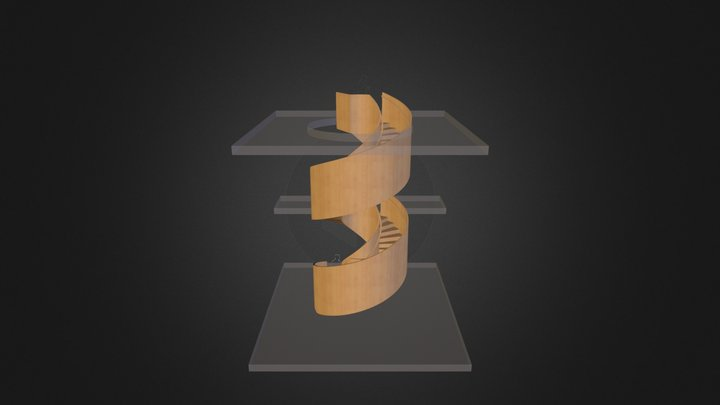 Eastgate Spiral Stair 3D Model