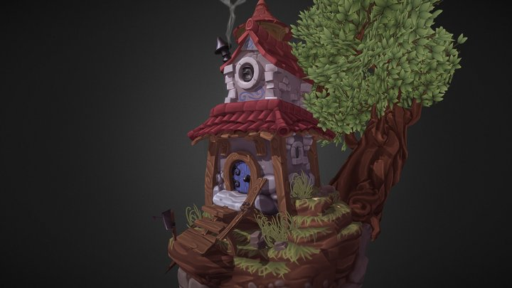 Small House Diorama 3D Model