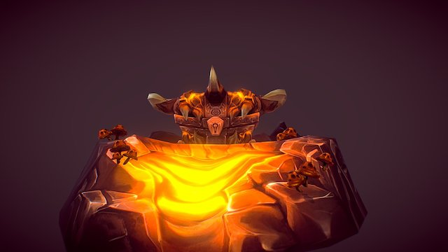 Corehound Chest Miniscene 3D Model
