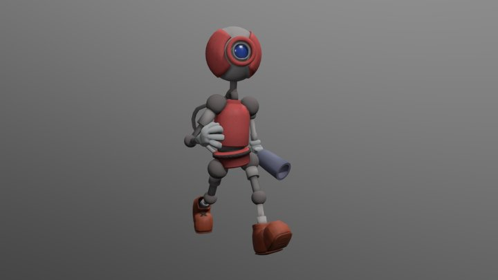 Gary the Time Traveling Robot 3D Model