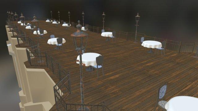 Restaurant on the bridge 3D Model