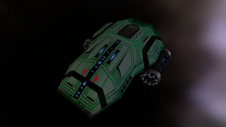OGRON HULK CLASS IX DESTROYER 3D Model
