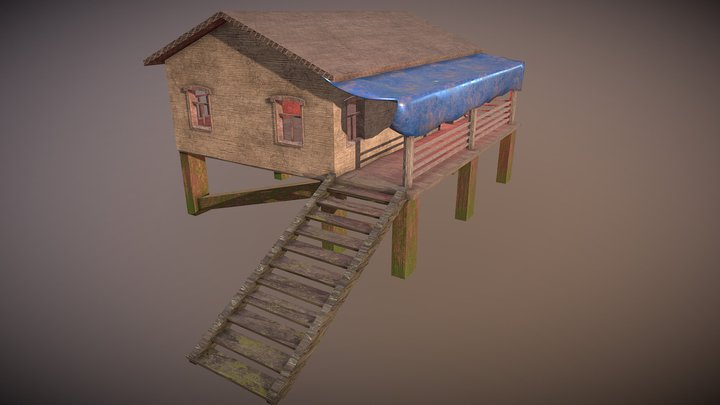 Wood house 3D Model