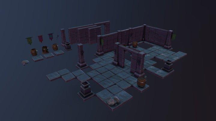 Modular Dungeon Kit 3D Model