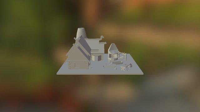 Viking Blacksmith Stall 3D Model