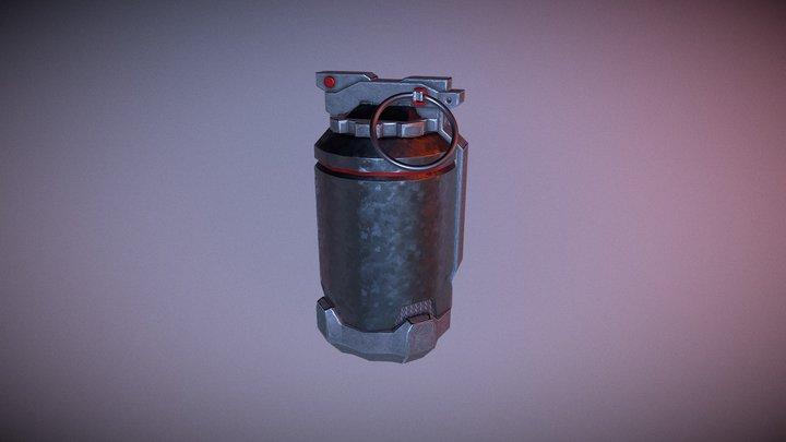Futuristic grenade 3D Model