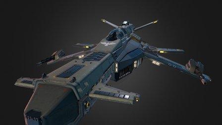 "AJF-12 ""Dvergr"" 3D Model"