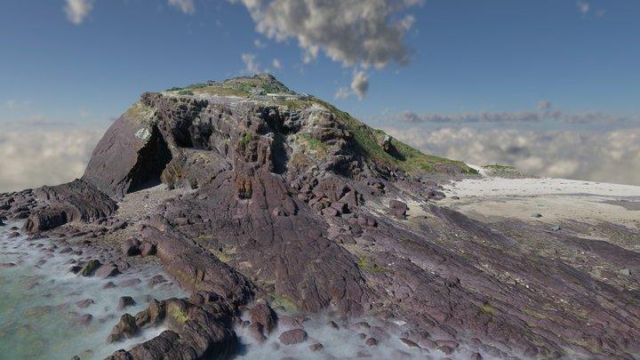 Hallett Cove - Black Cliff folds 3D Model