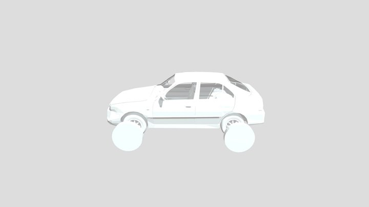 Hyundai Accent 5 doors 2005 3D Model