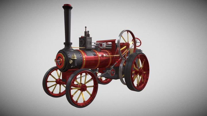 Traction Engine 3D Model