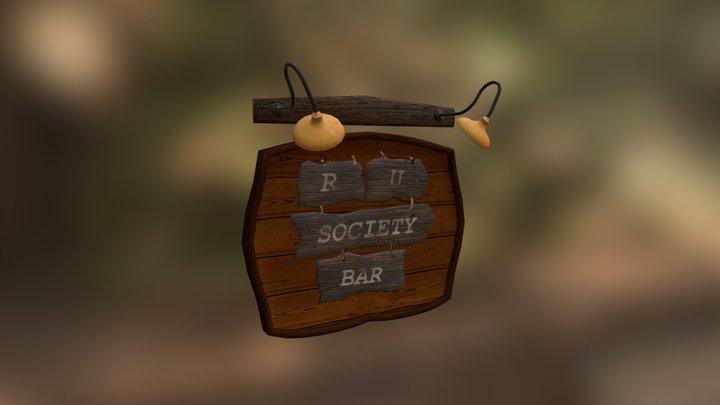 Bar poster 3D Model