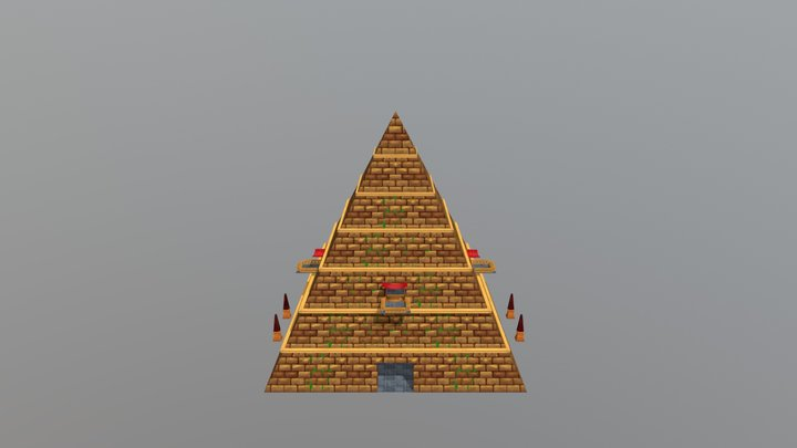 Stylized Pyramid 3D Model