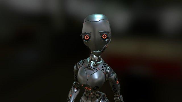 Crash_Test_Robot_Dummy_female 3D Model