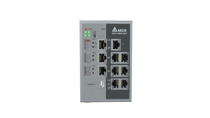 DVS-110W02-3SFP Managed Fast Ethernet Switch 3D Model