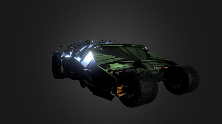 Batmobile Supercar 3D Model