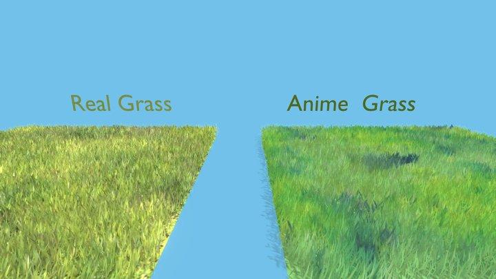 Anime & Real Grass 3D Model