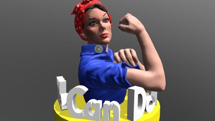 Rosie the Riveter 4-1-2018 3D Model