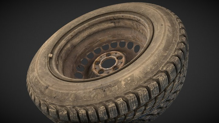 Used car tires 185/65 R15 3D Model