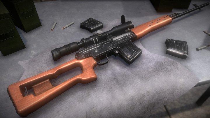 Dragunov SVD Final 3D Model