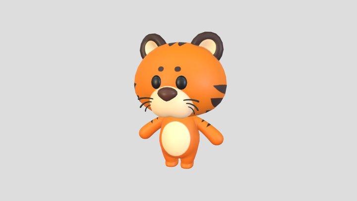 Character008 Tiger 3D Model