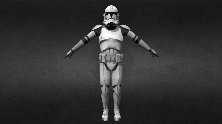 Clone Trooper Phase 2 (Shiny) [Updated] 3D Model