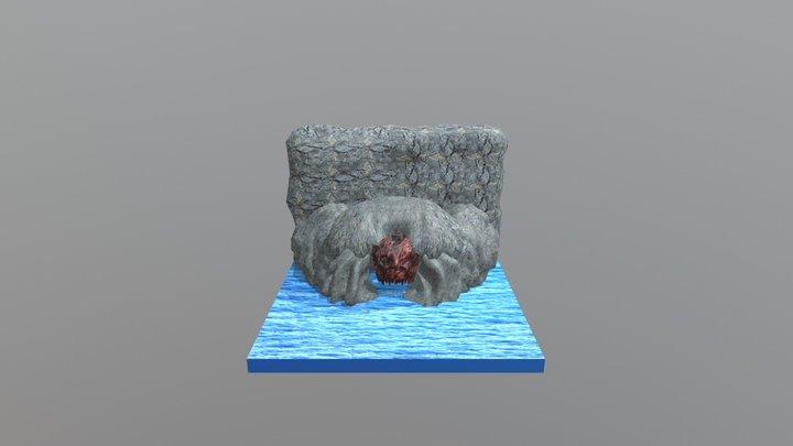 SculptJan 18 Day 18 cave 3D Model