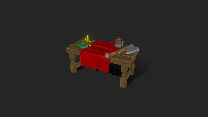 Props . Hand Painted Scene / Diorama 3D Model
