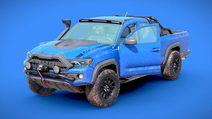 Generic Pickup Truck Lowpoly 3D Model