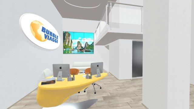 Travel agency front office 3D Model