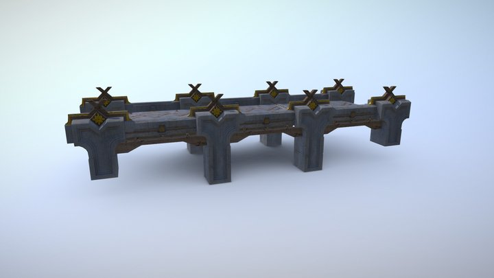 Scandinavian bridge 3D Model