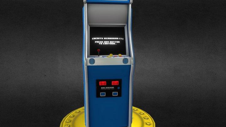 Retro Arcade Machine 3D Model