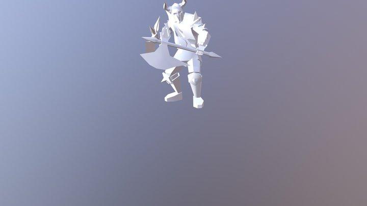 Low Poly Berserker 3D Model