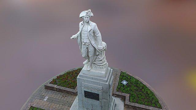 New Zealand Captain Cook Statue 3D Model