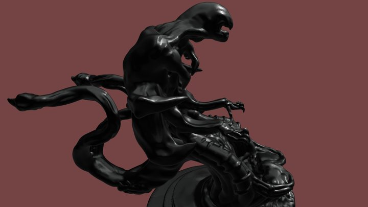 GIGER CHAIR COCKPIT With STAND 3D Model