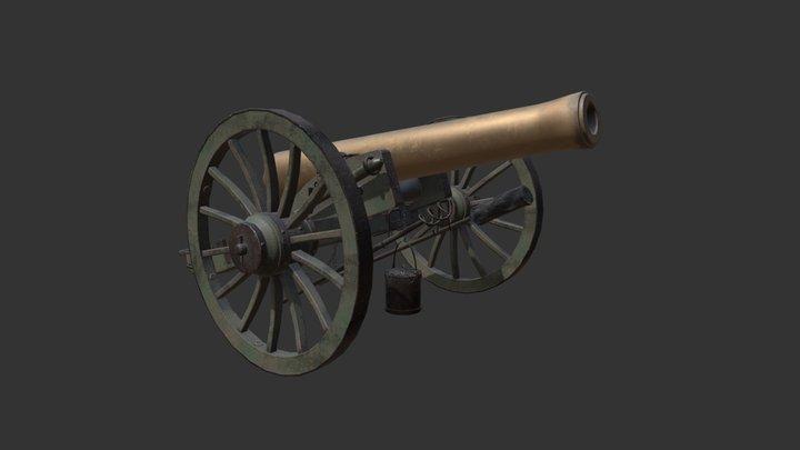 Napoleon 12lb Cannon 3D Model