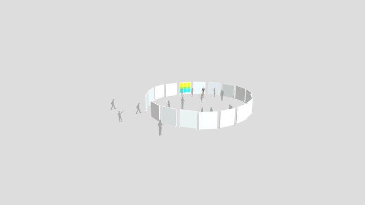 Round Exhibit - People 3D Model