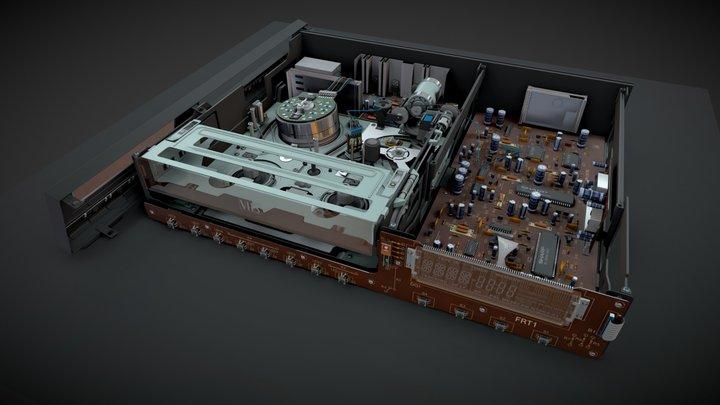 Retro video cassette recorder 3D Model
