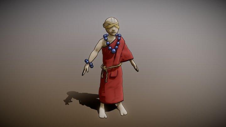 Blind Monk 3D Model