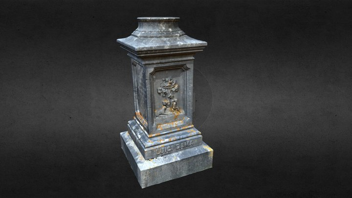 Oak Grove Cemetery Gravestone - Dama (Original) 3D Model