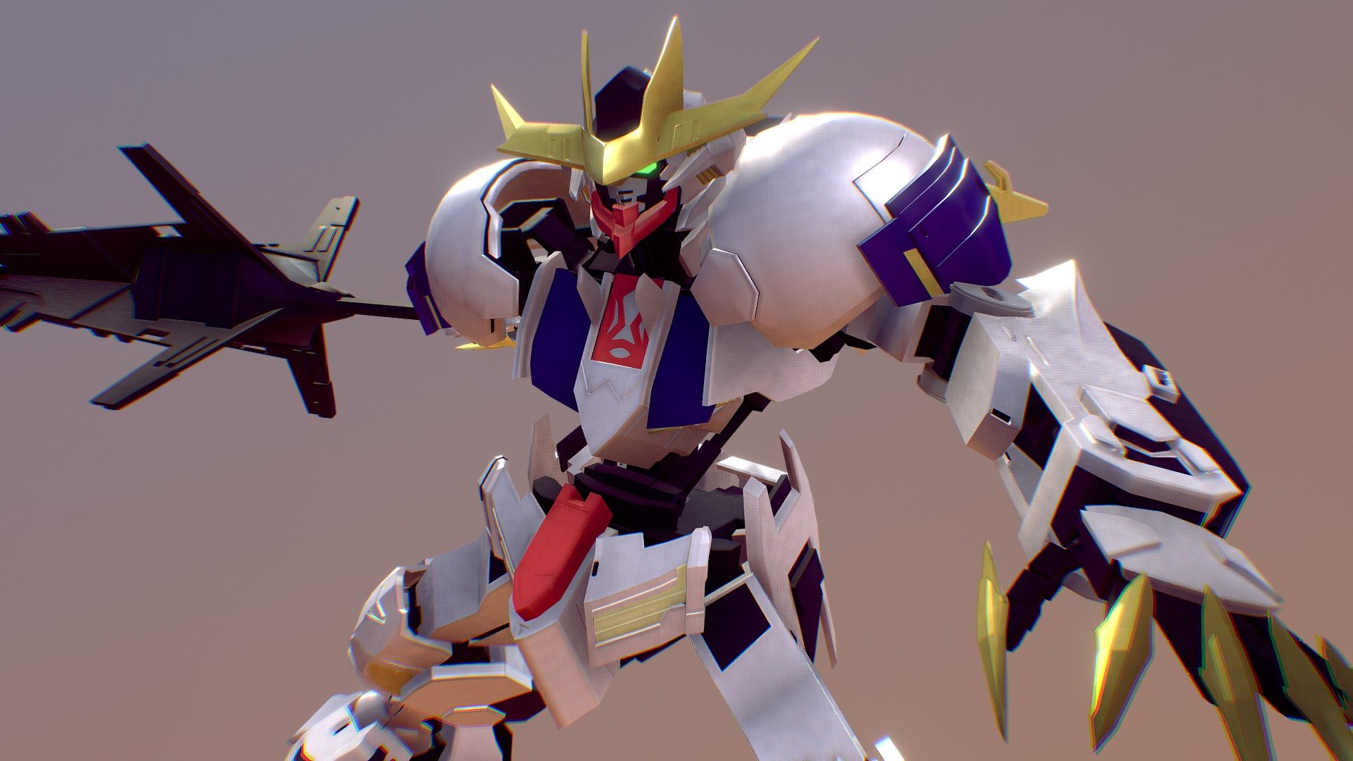 Asw G 08 Gundam Barbatos Lupus Rex Pose 3d Model By Karntipyan