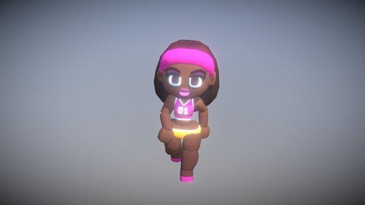 VolleyGirl Bitgem3d 3D Model