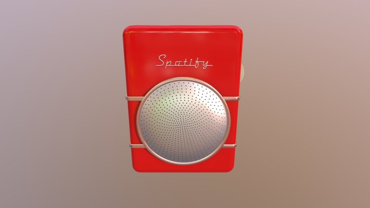 Vintage Pocket Radio 3D Model